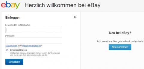 willkommen bei ebay einloggen