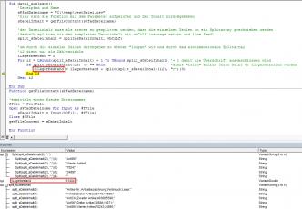 Split Funktion CSV Datei auslesen